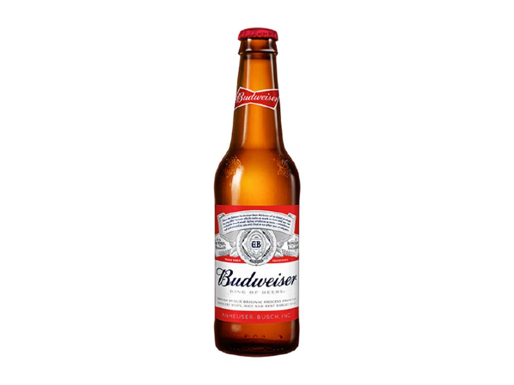 3 x Budweiser Bottles