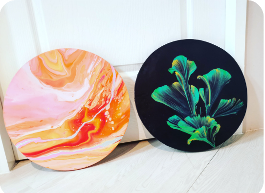 2 Hours Fluid Painting Workshop for 2 pax