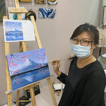 3 Hours Art Jamming Workshop for 2 pax with Complimentary Drinks