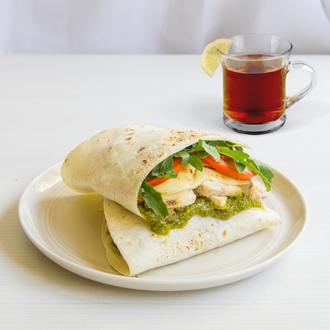 1 x Basil Pesto Chicken Thins with Coffee / Tea / Soup Set [Limited Stock]
