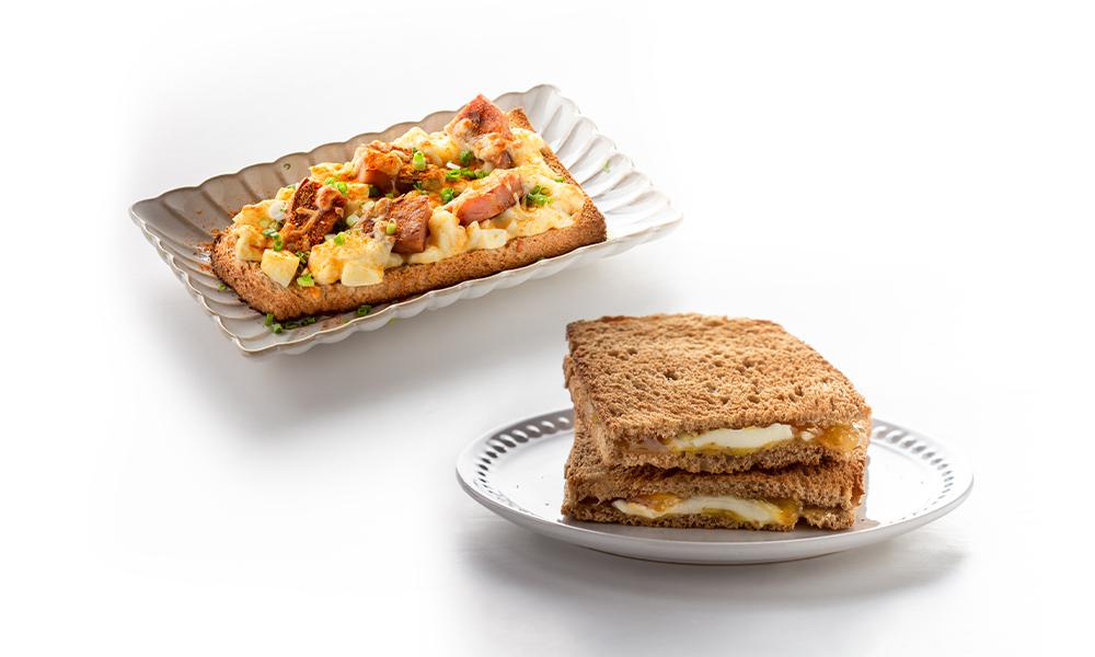 1 x Yuzu Cream Cheese Toast + 1 x Luncheon Sunrise (Takeaway only)