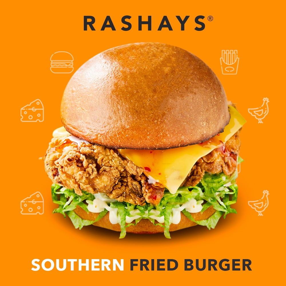 1 x Southern Fried Chicken Burger at Rashays - Get Deals, Cashback and Rewards with ShopBack GO