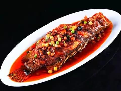 1 x Dry Fried Fish in Chilli Sauce (Barramundi)