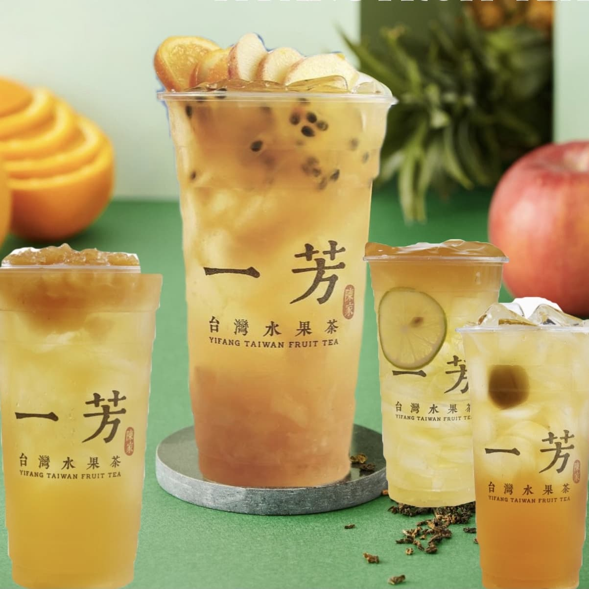 2 x Regular Fruit Tea / Milk Tea with Topping (Selected Flavours)