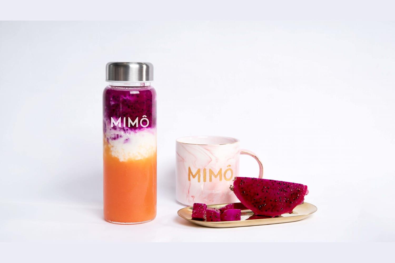 1 x Mango & Dragon Fruit Smoothie + Dirty Dirty Milk with Pearls