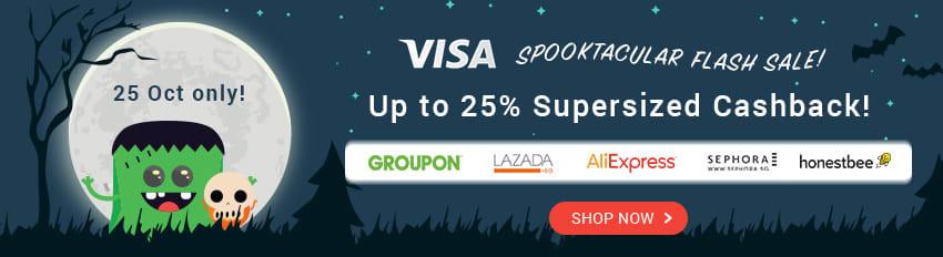 Visa up to 25% Supersized Cashback!