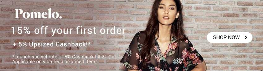 NEW: 15% off first order + 5% Upsized Cashback!