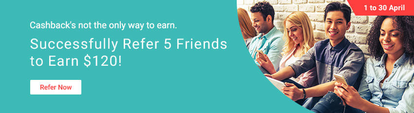Successfully refer 5 friends, Earn $120!