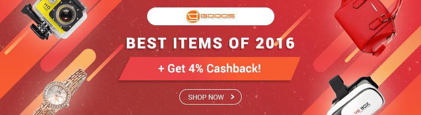 Goods.PH Bestsellers of 2016 + Get 4% Cashback on all orders