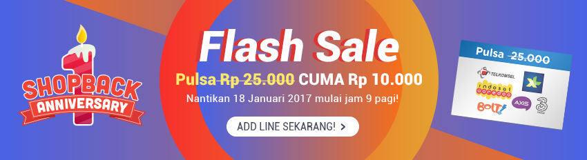 Flash Sale LINE ShopBack ID