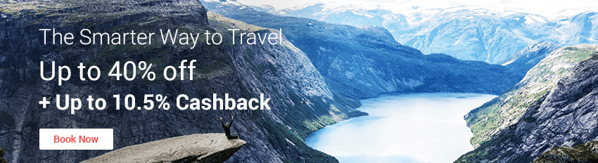 The Smarter Way To Travel: Travel Deals up to 40% off + 10.5% Cashback