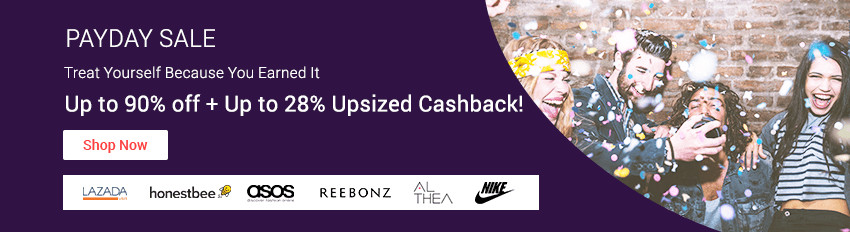 Payday Sales: Up to 90% off + Up to 28% Cashback