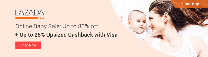 Lazada Baby Sale! Up to 80% off + Up to 25% Upsized Cashback