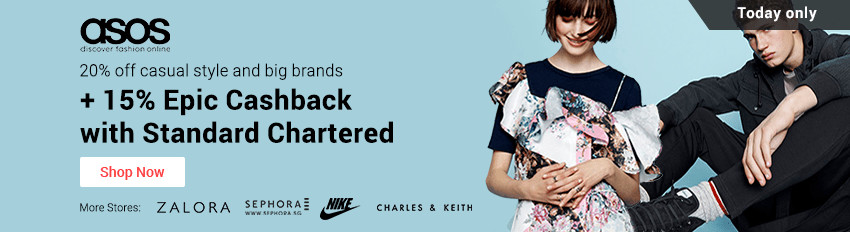 Standard Chartered Wednesdays: 15% Epic Cashback for ASOS and more!