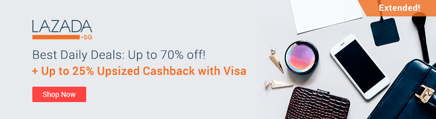 Lazada Sale Extended! Up to 70% off daily deals + Up to 25% Cashback with Visa