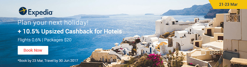 Expedia Hotels Sale: 10.5% Cashback for your next holiday!