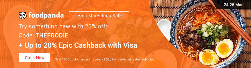 Visa Marvelous Sale: Up to 20% Epic Cashback for Foodpanda with Visa