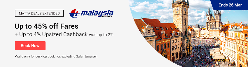 Malaysia Airlines Upsized Cashback Extension
