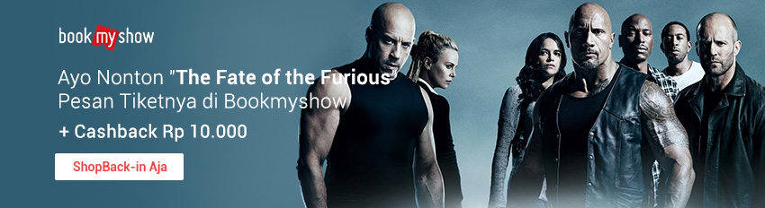 Promo Bookmyshow Fate of the Furious