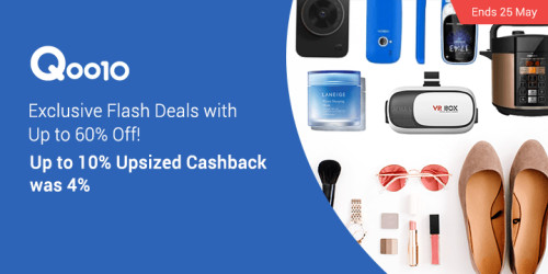 Qoo10 10% Upsized Cashback