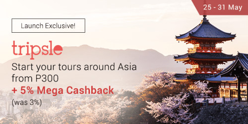 Book your tours and travel add-ons with Tripsle and get 5% Mega Cashback for a limited time only!