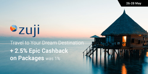 Zuji: Travel to your Dream Destination + 2.5% Epic Cashback on Packages (was 1%)