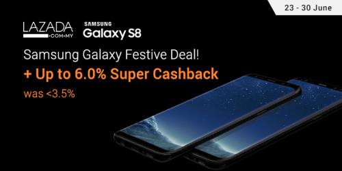 Lazada Samsung Super Cashback 15 - 26 June 2017