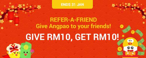 RM12 Bonus for every friend you invite, +RM122 Bonus when you invite 12 or more friends