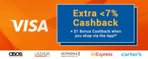 Visa Extra <7% Cashback!