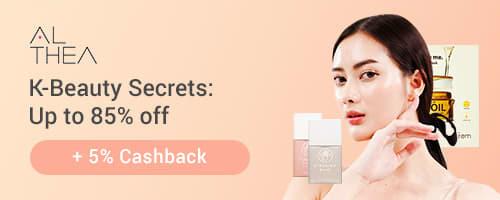 K-Beauty Secrets: Up to 85% off + 5% Cashback on Althea