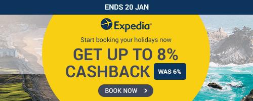 Expedia Get Up to 8% Cashback