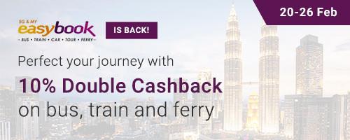 Easybook 10% Double Cashback