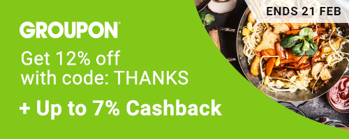 Groupon one last time to enjoy Get 12% off