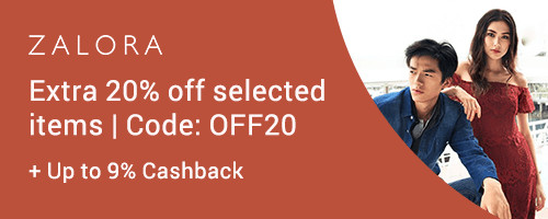 ZALORA: Extra 20% off on selected items + Up to 9% Cashback