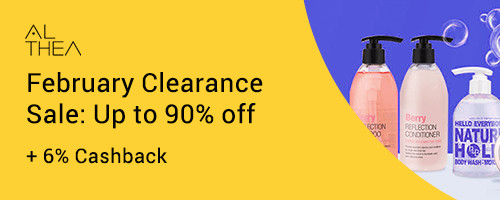 Althea February Clearance Sale: Up to 90% off + 6% Cashback