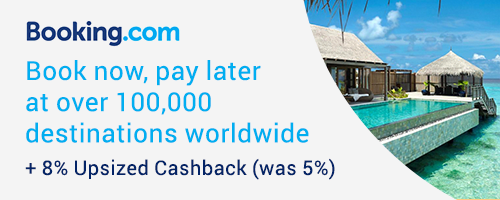 Ends 27 Feb | Booking.com: Up to 100,000 Destinations + 8% Upsized Cashback