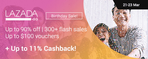 Lazada Birthday Sale: Up to 90% off + Up to 11% Cashback!