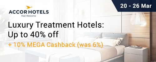 Ends 26 Mar | Get 10% Upsized Cashback from AccorHotels