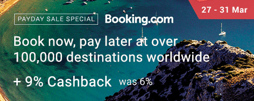 Booking.com 9% Cashback