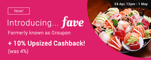 New on ShopBack: Fave by Groupon