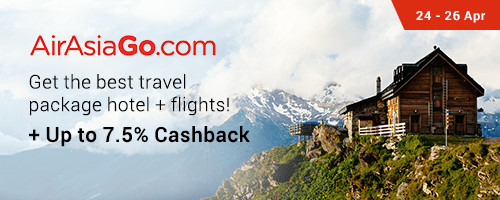 AirAsiaGo: Up to 7.5% Cashback