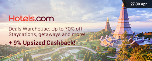 Hotels.com Sale: 9.0% Upsized Cashback