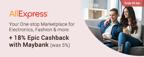 Maybank Special: 18% Cashback for AliExpress