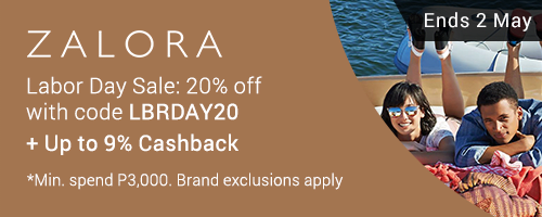 Ends 2 May 12NN | Get up to 20% off on ZALORA with this code + Up to 9% Cashback