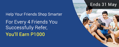 Refer 4 friends successfully and Get P1,000 Bonus Cashback this May 2017!
