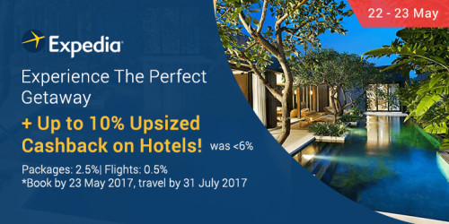 Expedia Upsized 10% 22-23 May