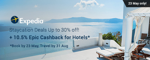 Expedia: Staycation Deals Up to 30% off + 10.5% Epic Cashback for Hotels