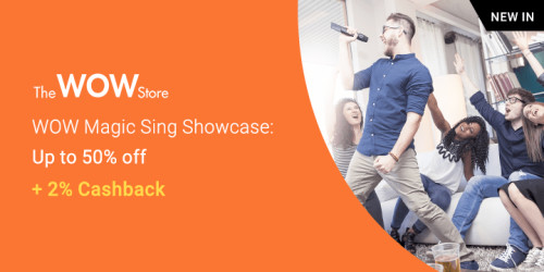 New on ShopBack: The WOW Store | Get best Karaoke device and more + 2% Cashback