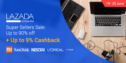 Ends 22 Jun | Lazada's Super Seller Sale: Up to 90% off in discounts + Up to 9% Cashback