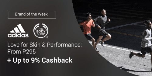 Love for skin & performance with Adidas and The Body Shop + Up to 9% Cashback